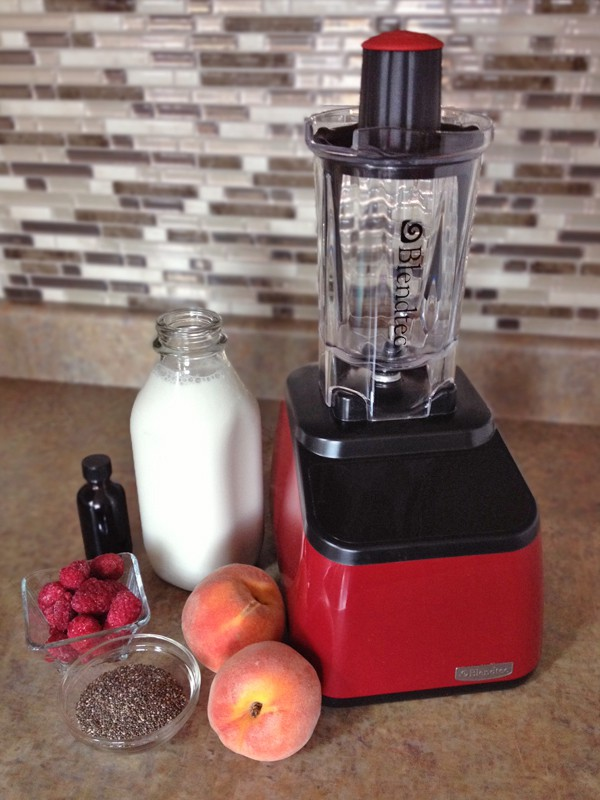 Peach Raspberry Milkshake | Our Paleo Life