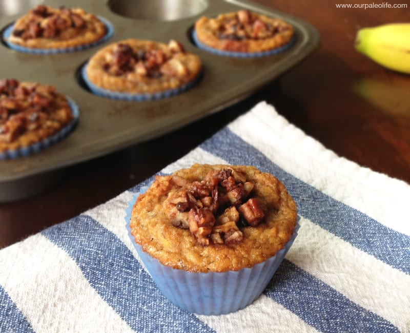 Banana Streusel Muffins | Our Paleo Life