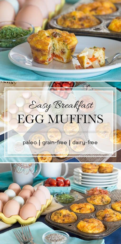These egg muffins can be baked in advance and stored in the fridge or freezer for a quick, easy, and delicious breakfast anytime.