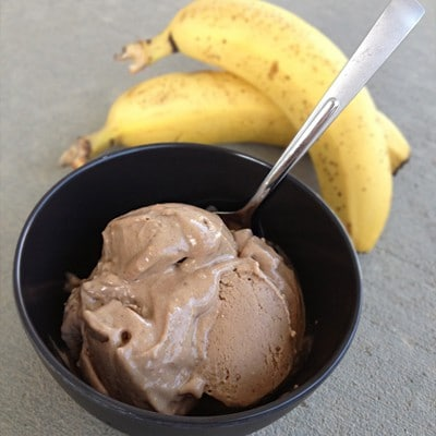 Chocolate PB Banana Ice Cream | Our Paleo Life