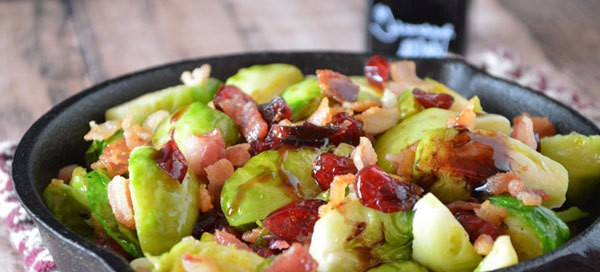 Bacon Balsamic Brussels Sprouts {by Our Paleo Life}