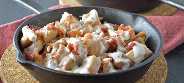 Chicken Bacon Ranch Skillet {by Our Paleo Life}