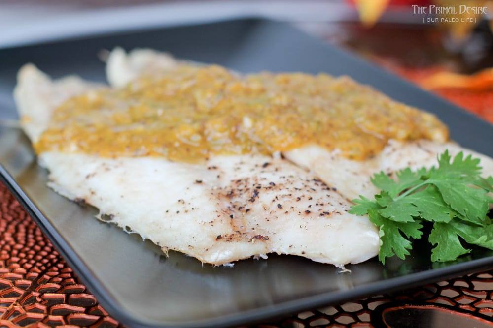 White Fish with Peach Salsa Sauce