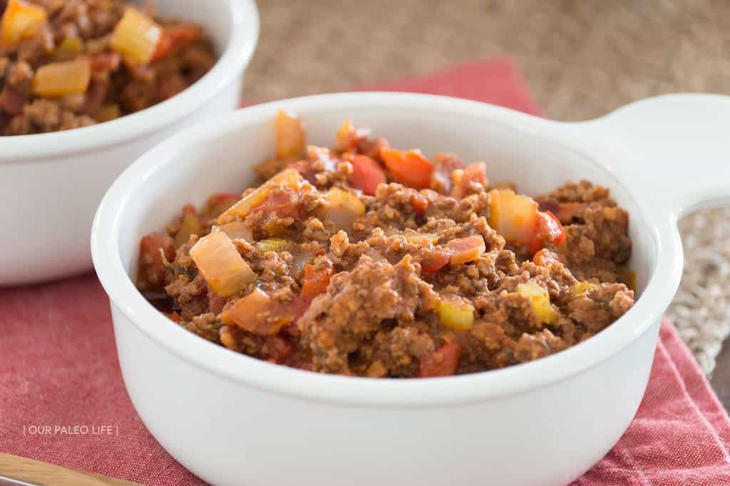 Smokey Bacon Chili {bean-free} by Our Paleo Life