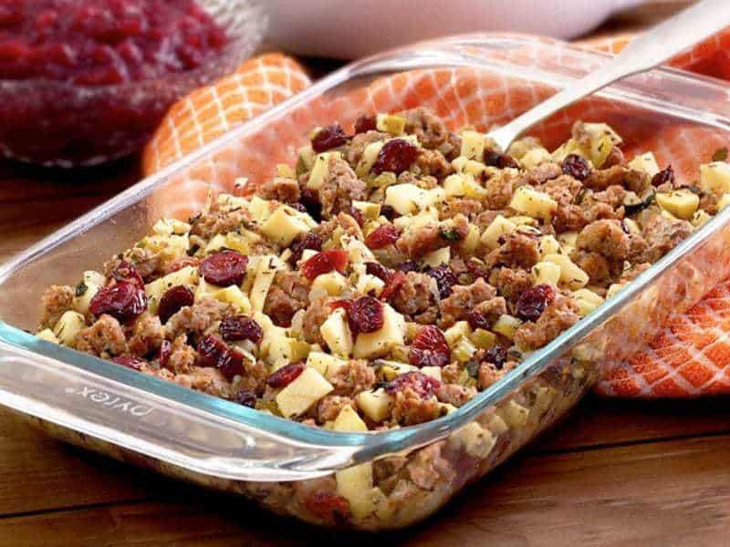 Paleo Sausage, Apple, & Cranberry Stuffing | Paleo Newbie