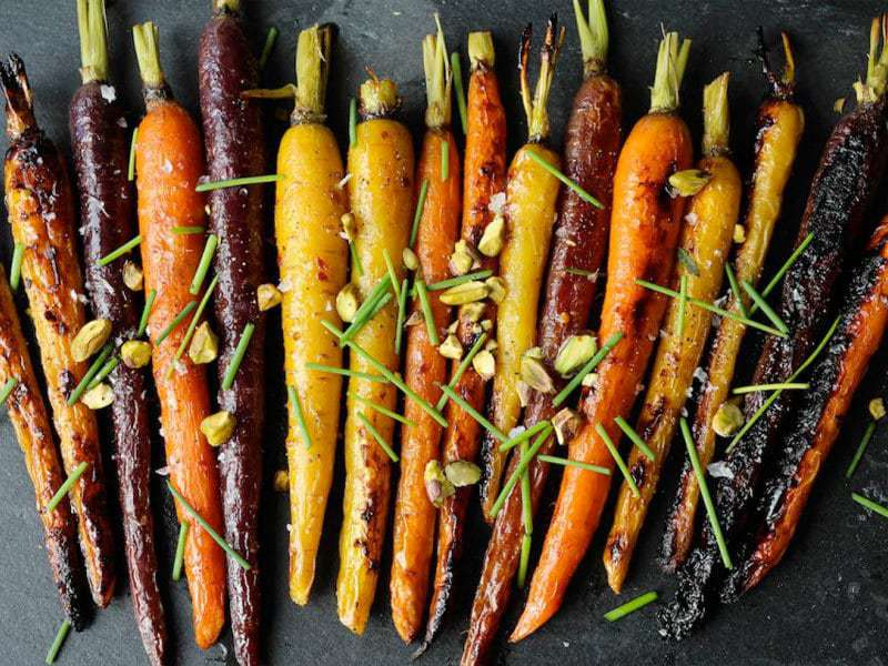 Maple Dijon Roasted Carrots | PaleOMG