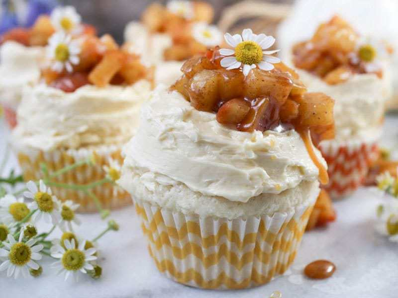 Apple Pie Cupcakes | PaleOMG