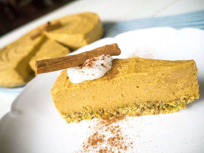 No-Bake Pumpkin Cheesecake | Merit + Fork