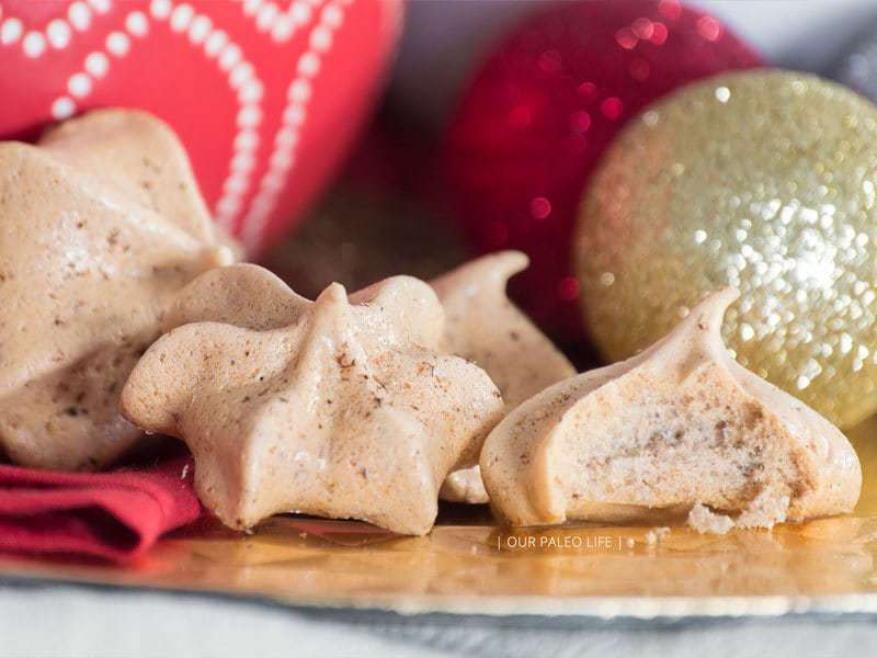Cinnamon Maple Meringue Cookies | Our Paleo Life