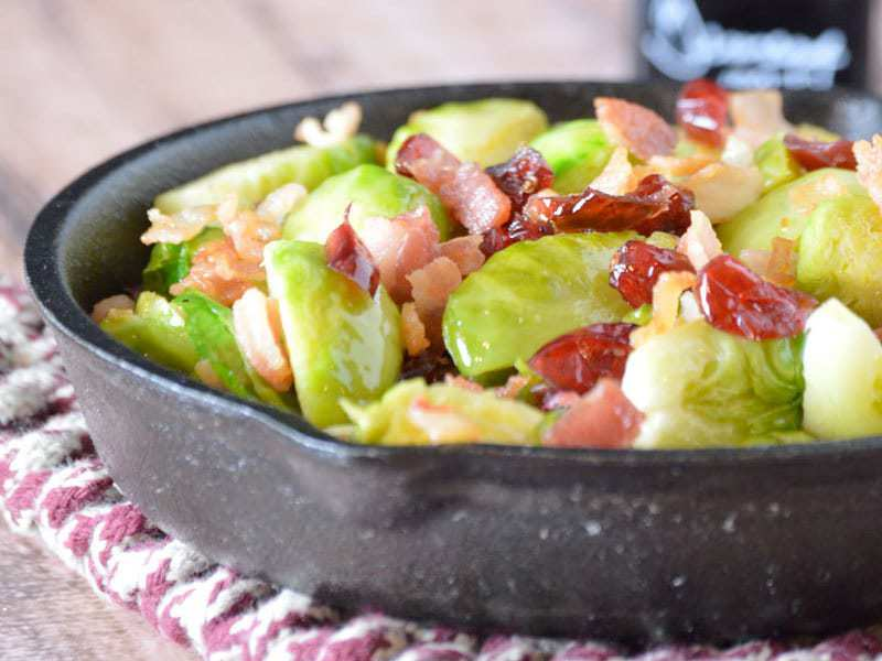 Bacon Balsamic Brussels Sprouts {Whole30}