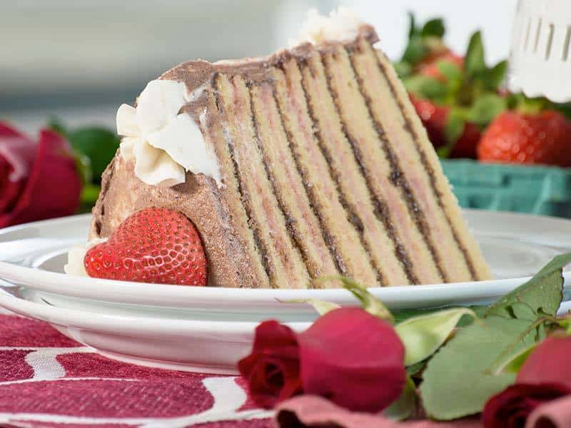 14-Layer Chocolate Strawberry Cake | Our Paleo Life
