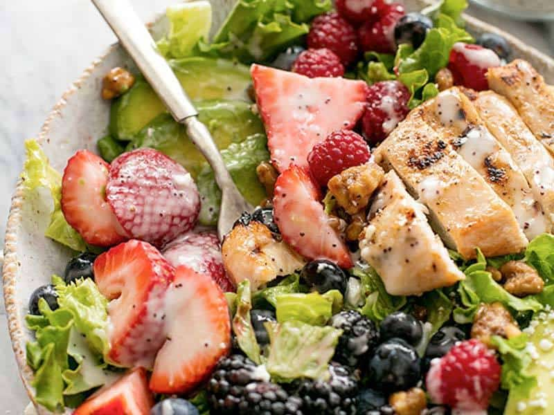 Berry Avocado Grilled Chicken Salad   Real Housemoms