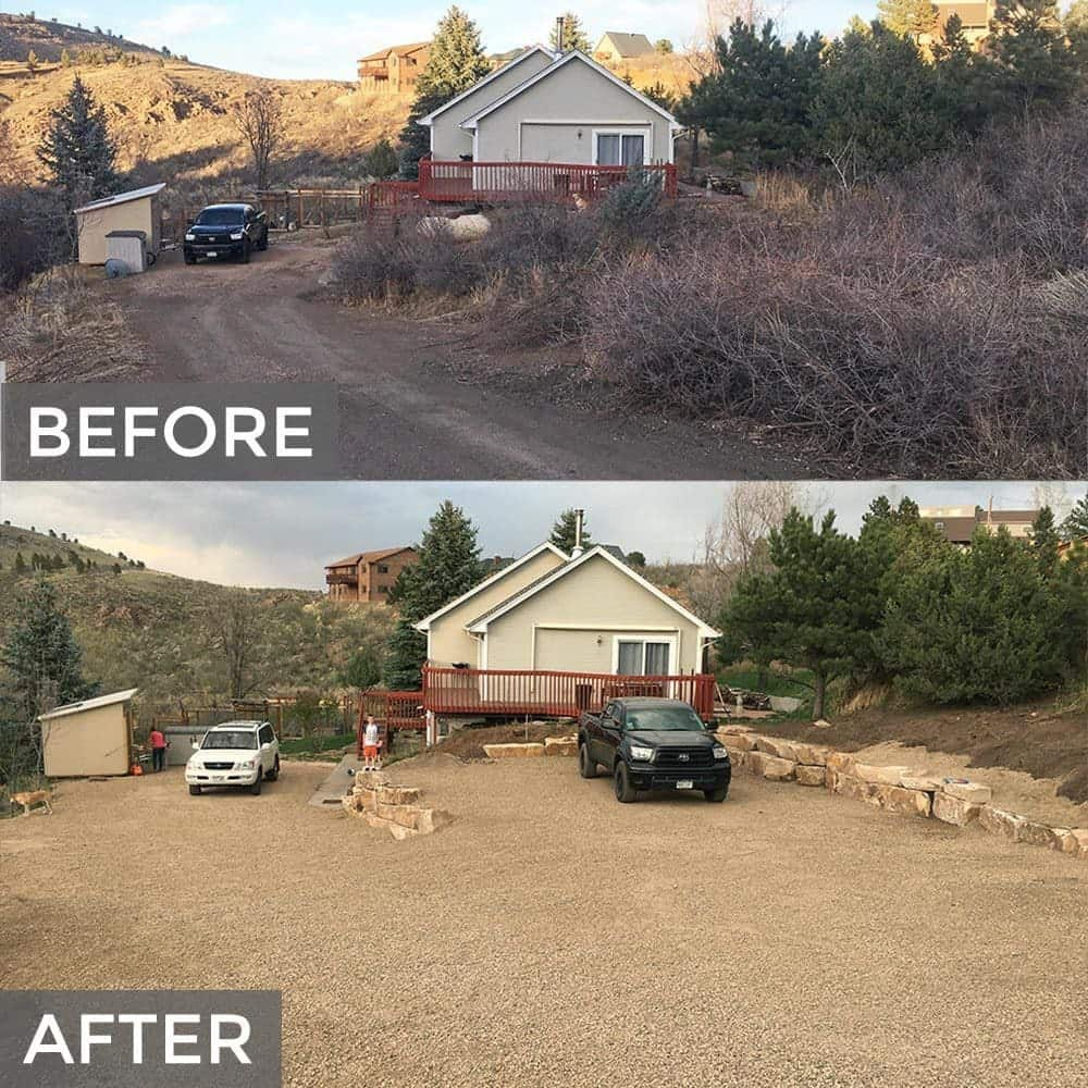Before and After Driveway Project