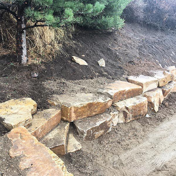 Boulder Rock Wall