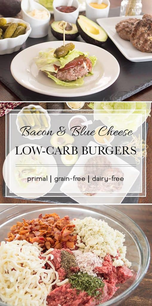 No need for a bun on these flavor-packed burgers. Blue cheese and bacon combine to make one of the best burgers you'll ever have.