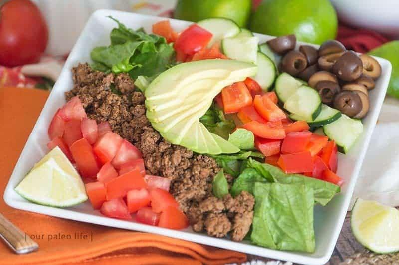 Family Dinner Paleo Taco Salad