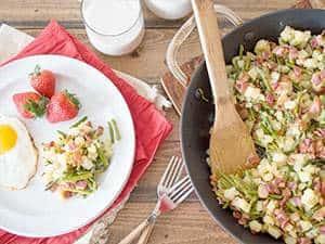 Asparagus Bacon Hash