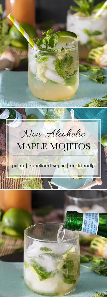This Virgin Maple Mojito has no refined-sugar and is kid-friendly, making it the perfect summer drink for the entire family.