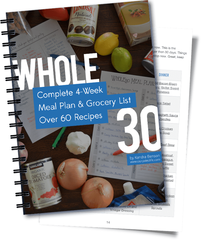 Whole30 eBook Meal Plan