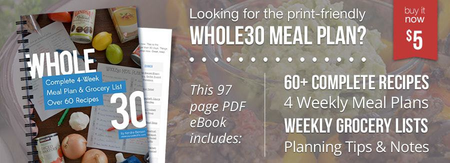 Get the Whole30 Meal Plan eBook for just $5