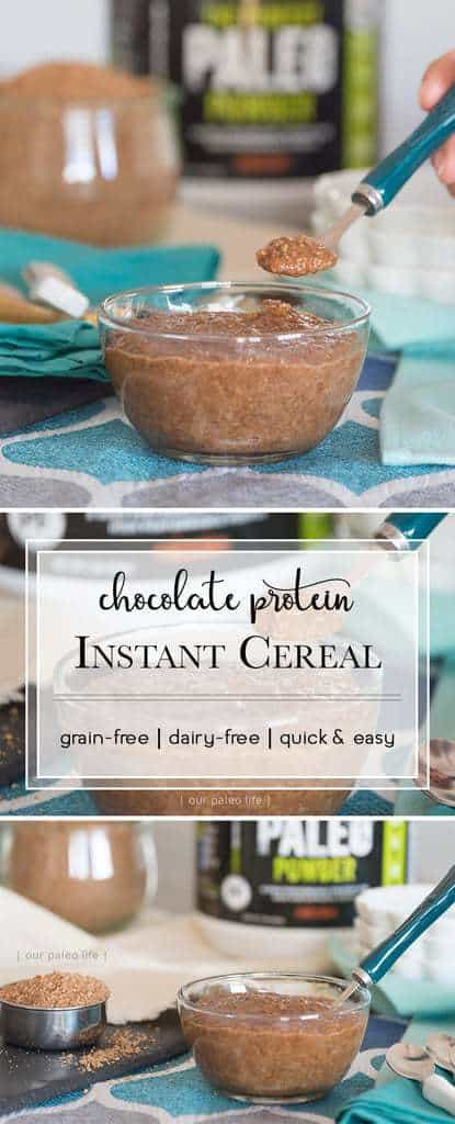 Chocolate Protein Instant Cereal {grain-free; dairy-free}