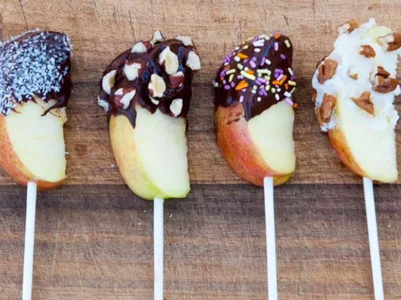 Chocolate Dipped Apple Slices {Thriving on Paleo}