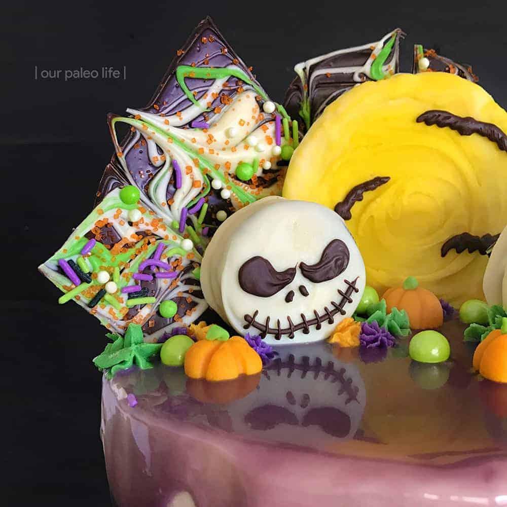 Grain-Free Halloween Cake {Tim Burton Inspired; grain-free; dairy-free option}