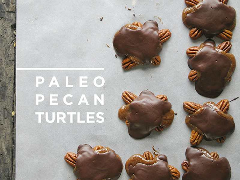 Paleo Pecan Turtles {The Kitchy Kitchen}