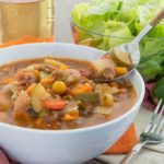 Slowcooker Paleo Minestrone Soup {grain-free | dairy-free | whole30 | vegan option}