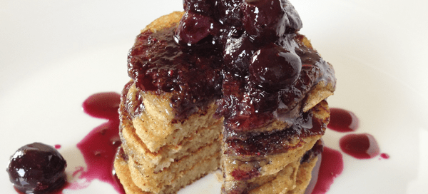 Banana Pancakes with Blueberry Compote | Our Paleo Life