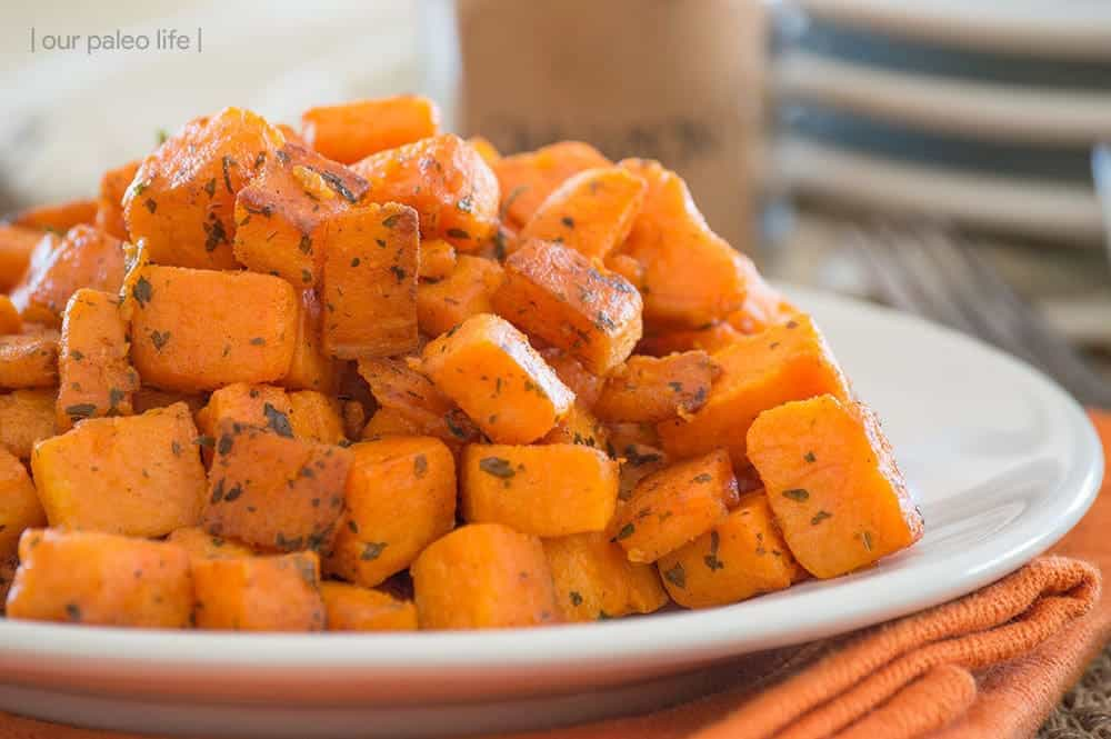 Skillet Sweet Potatoes {grain-free}