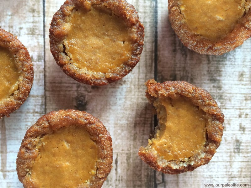 Mini Pumpkin Pie Tarts | Our Paleo Life