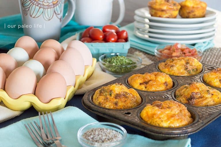 Spicy Egg Muffins {dairy-free; grain-free} by Our Paleo Life