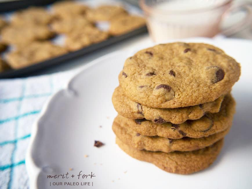 ... Paleo Chocolate Chip Cookies {by Merit + Fork} - Our Paleo Life
