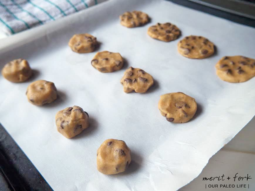 Perfect Paleo Chocolate Chip Cookies by Merit + Fork for Our Paleo Life