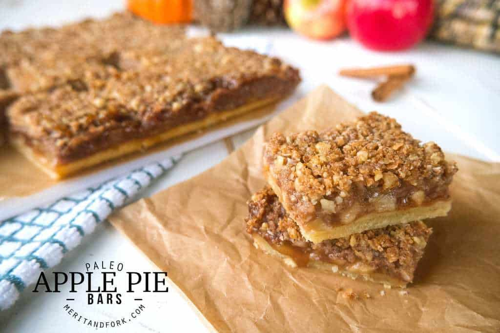 Paleo Apple Pie Bars by Merit + Fork