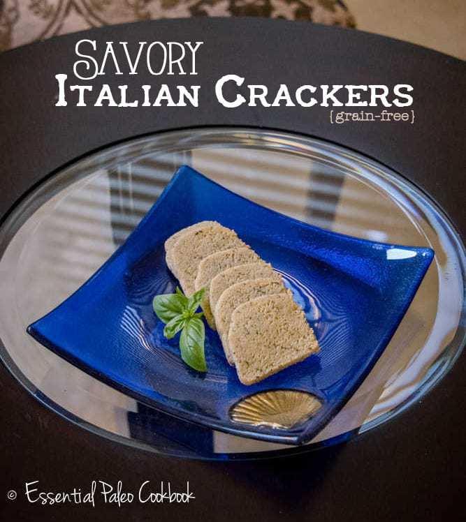 Savory Italian Crackers {by Louise at PaleoMagazine.com}