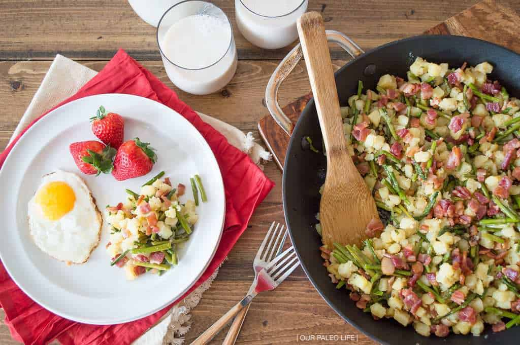 Asparagus Potato Hash {by Our Paleo Life}