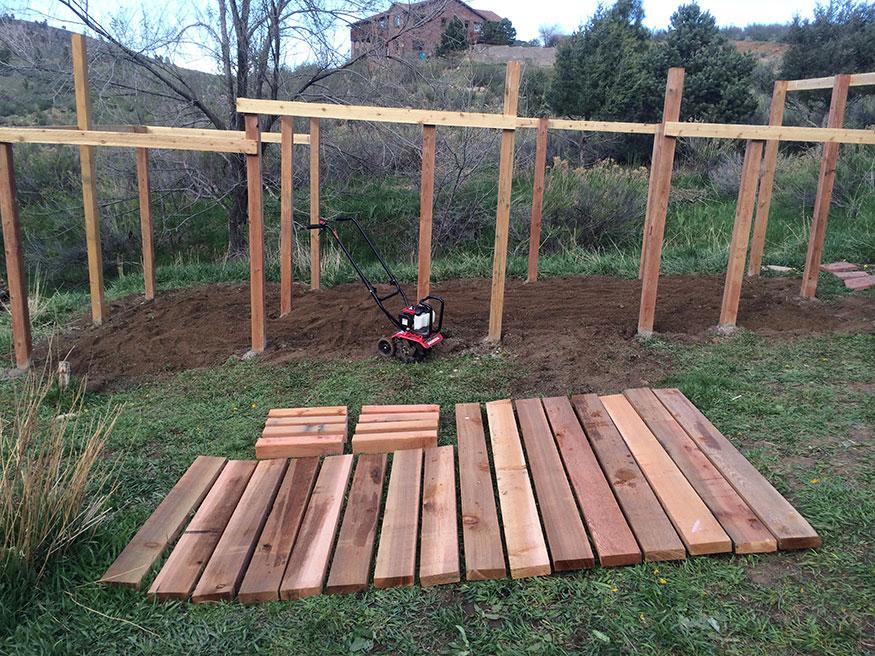 Raised Garden Bed Prep (Cedar)