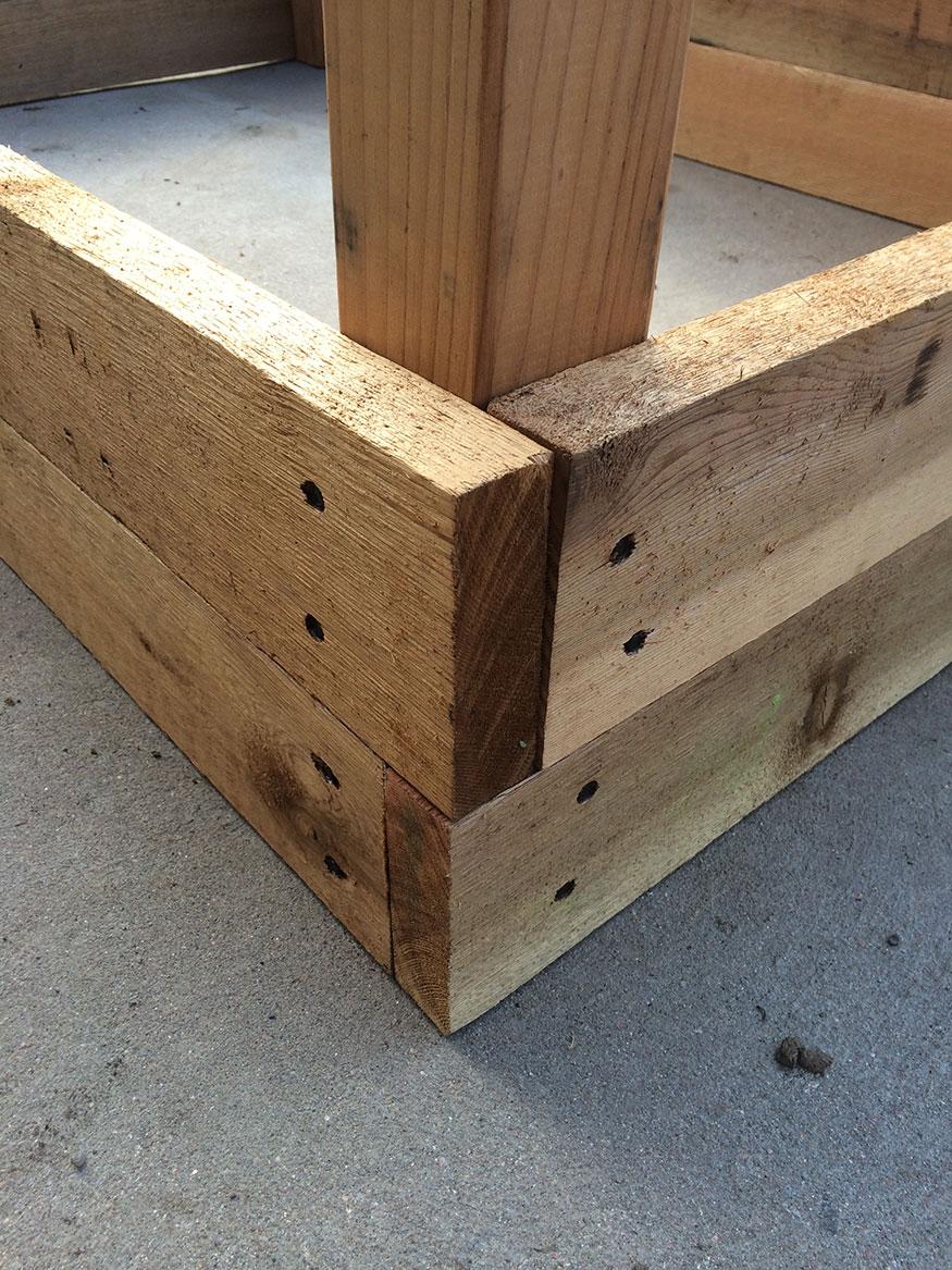 Raised Garden Bed with Cedar Planks