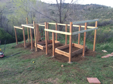 Creation of Garden Fence Area - Keep the Deer Out