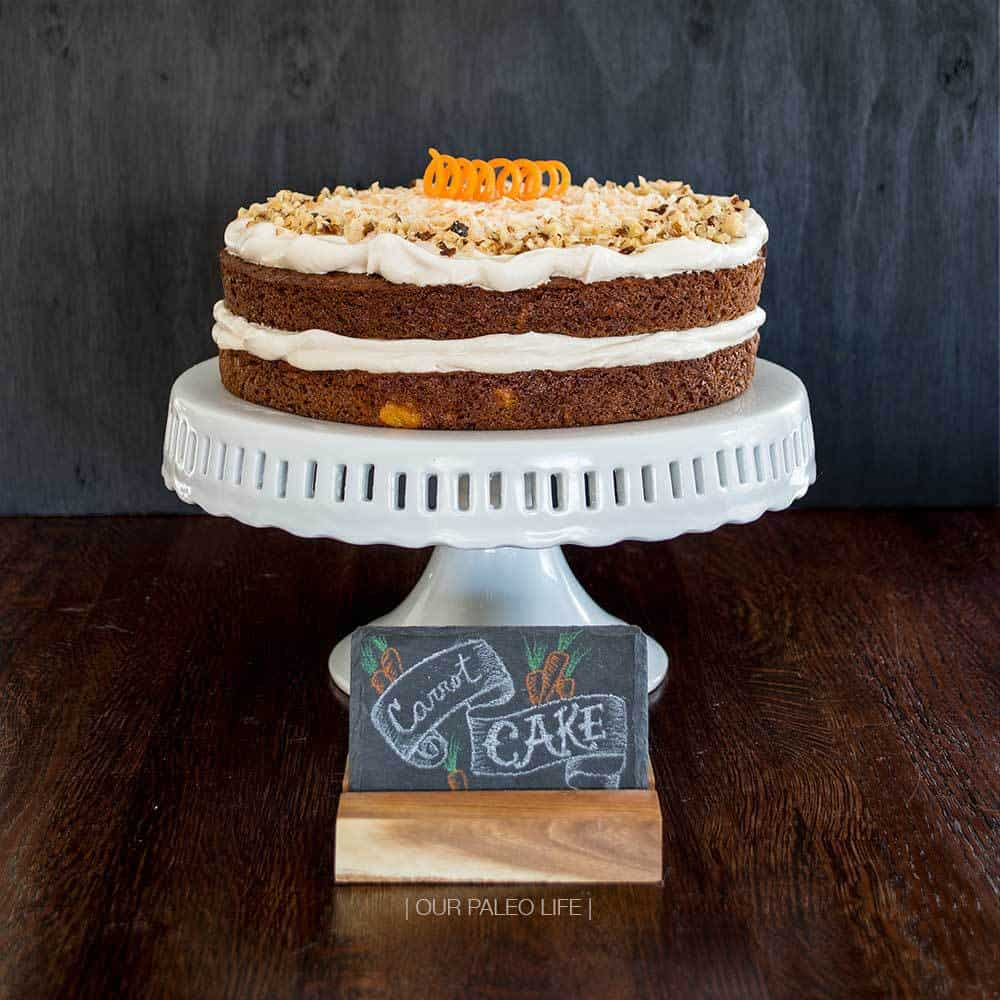 Carrot Cake w/ Maple Meringue Frosting by Our Paleo Life