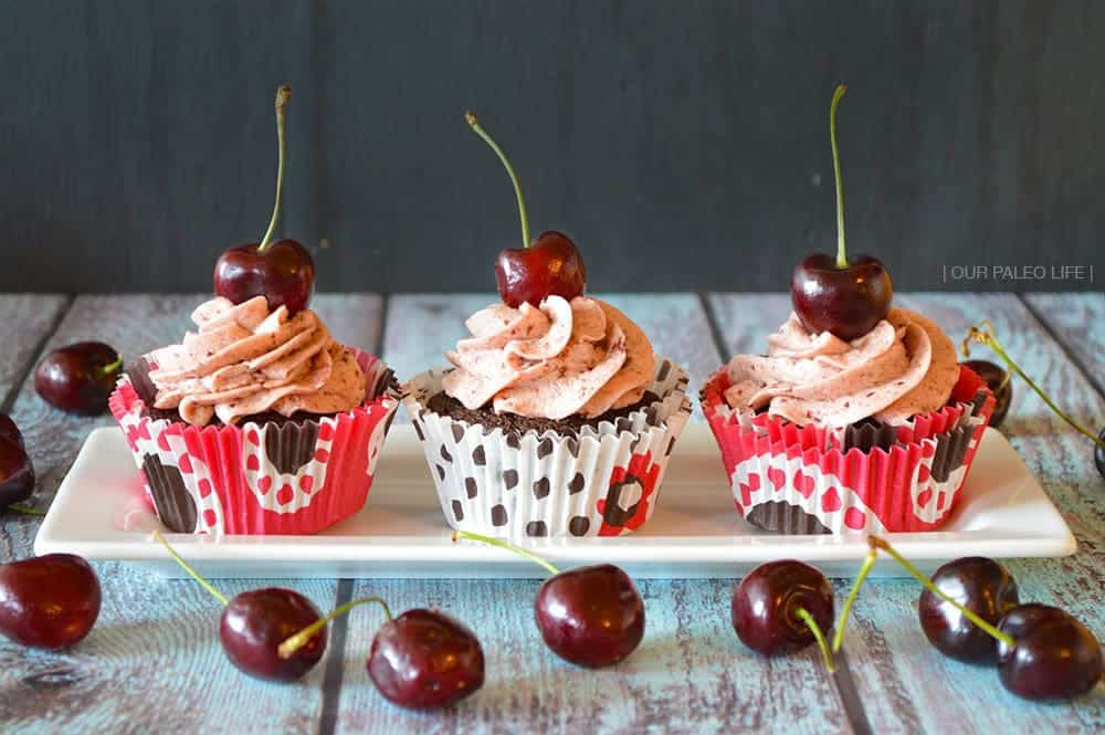 Cherry Buttercream Frosting by Our Paleo Life