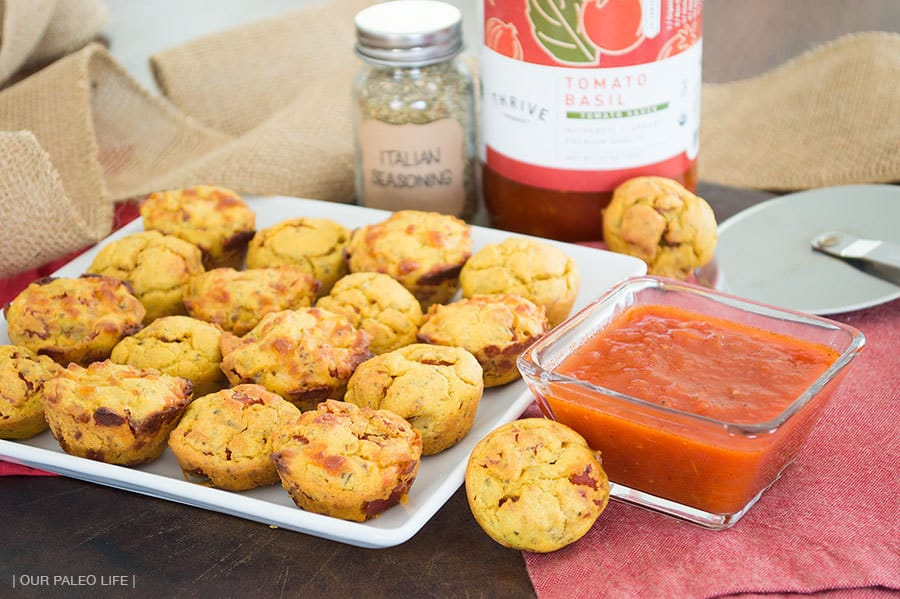 Mini Pizza Bites {grain-free, dairy-free option} by Our Paleo Life