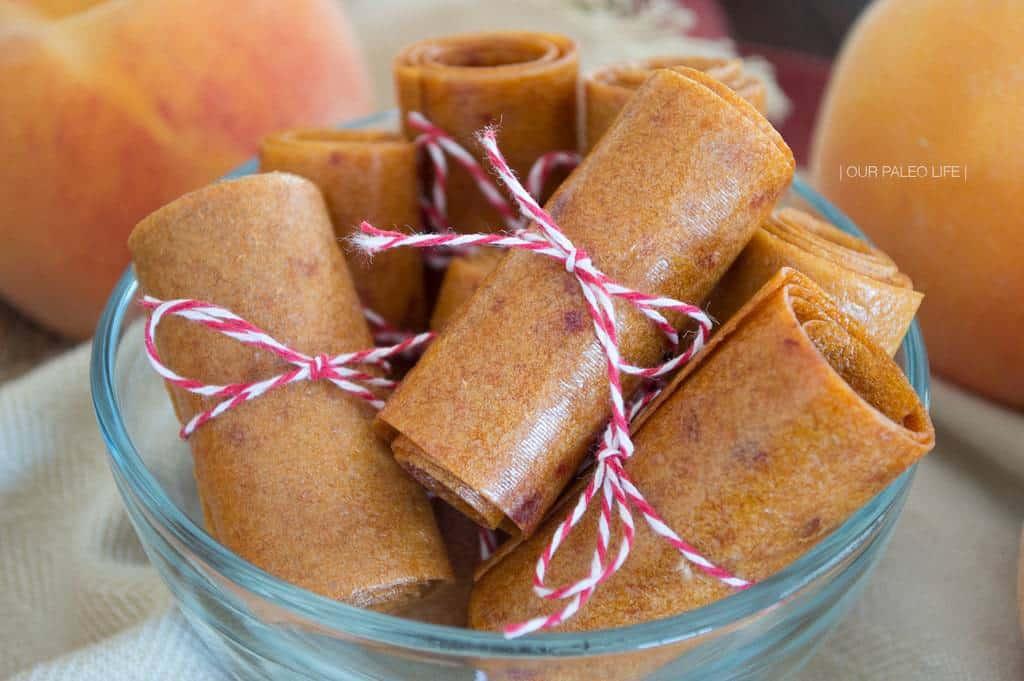 Peach Fruit Leather {honey-sweetened; real fruit}