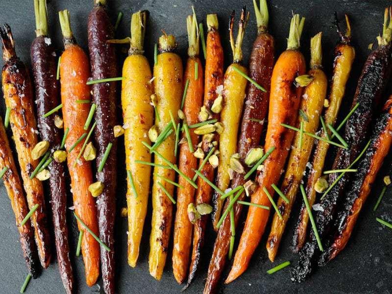Maple Dijon Roasted Carrots | PaleOMG