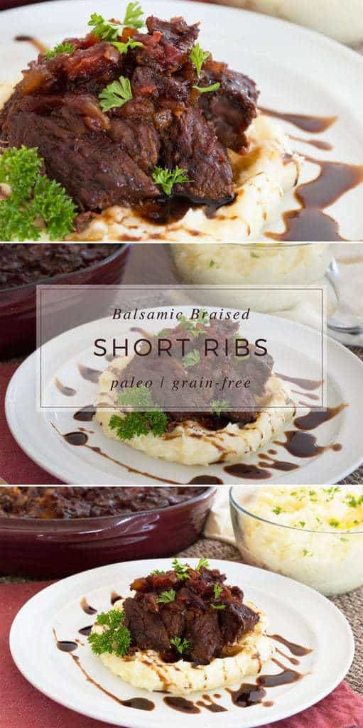 Braised Short Ribs over Mashed Potatoes