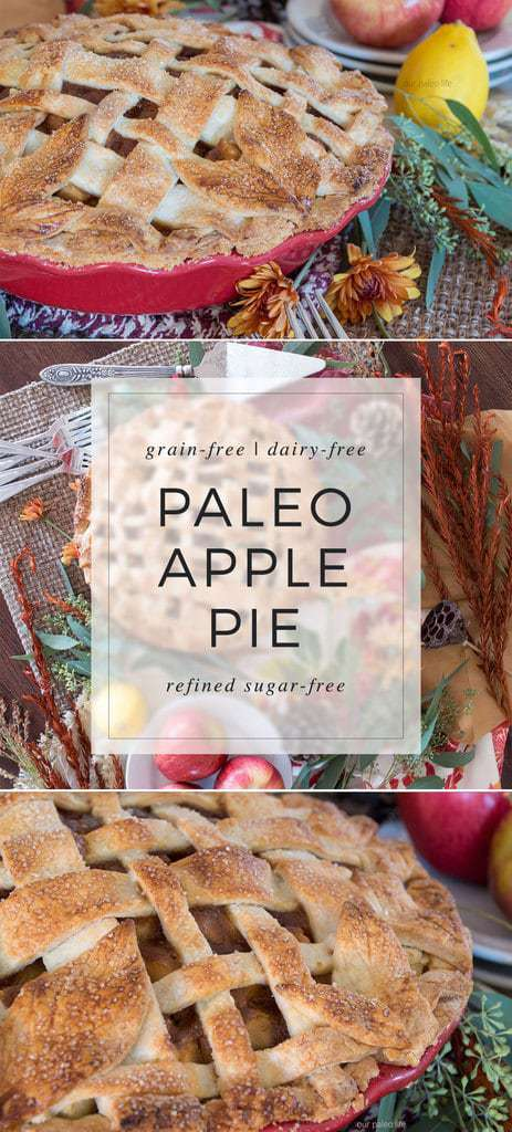 Now you can have your pie and eat it too. The all-American, classic apple pie is now grain-, dairy, and refined sugar-free. All the taste of your grandmother's recipe, none of the allergens. #paleo