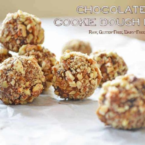 Chocolate Chip Cookie Dough Bites {grain-free; dairy-free}