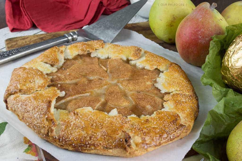 Rustic Pear Galette {grain-free, dairy-free, no refined sugar, paleo}